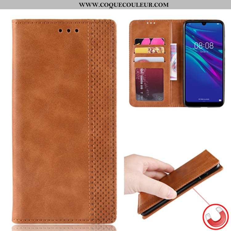 Coque Huawei Y6 2020 Portefeuille Protection Téléphone Portable, Housse Huawei Y6 2020 Cuir Étui Mar