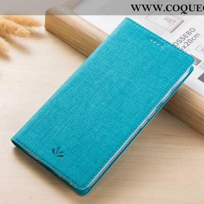 Housse Huawei Y6 2020 Cuir 2020 Bleu, Étui Huawei Y6 2020 Modèle Fleurie Tissu Bleu
