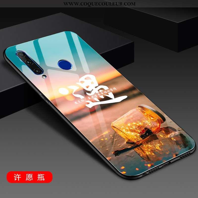 Housse Huawei Y6p Protection Tendance Tout Compris, Étui Huawei Y6p Verre Simple Doré