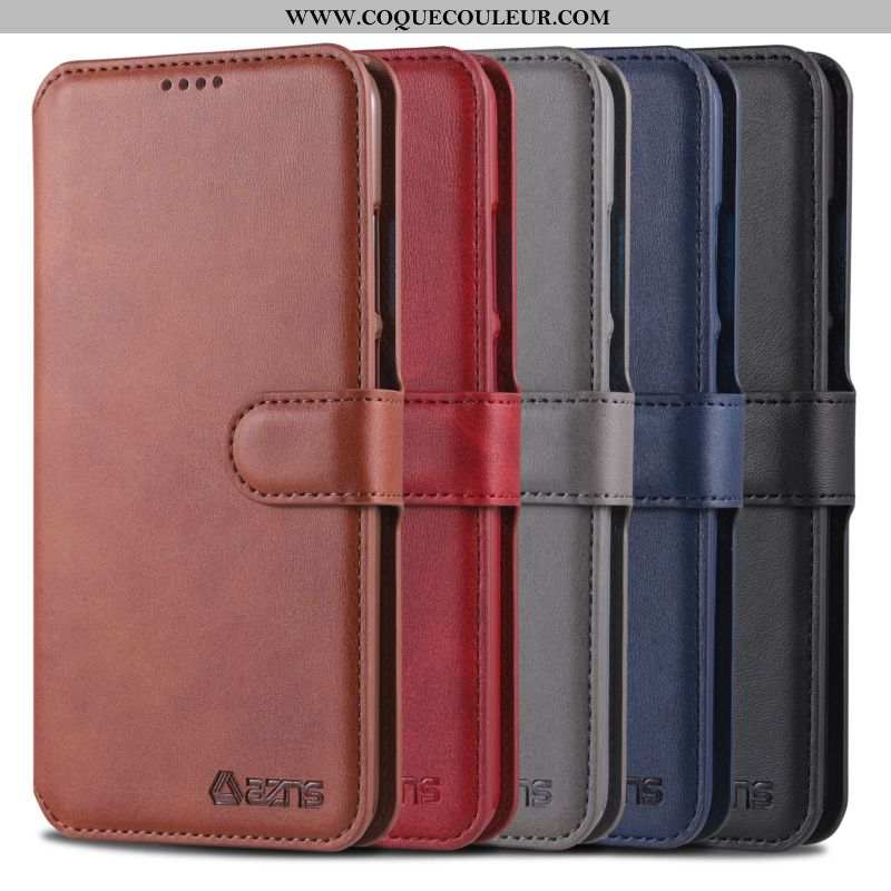 Coque Huawei Y6p Protection Téléphone Portable Housse, Housse Huawei Y6p Portefeuille Marron