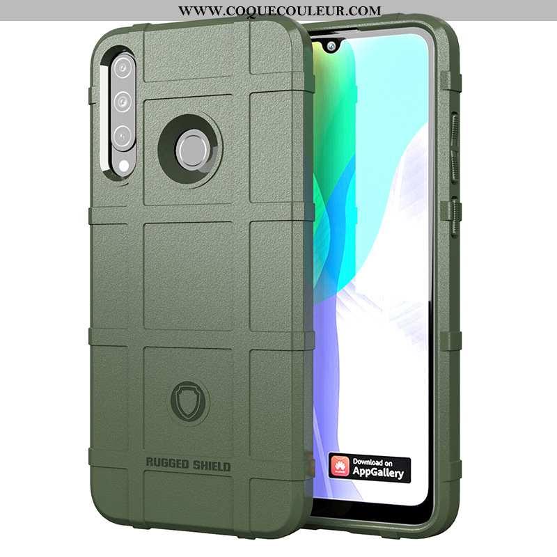 Housse Huawei Y6p Fluide Doux Étui Tout Compris, Huawei Y6p Silicone Vert Verte