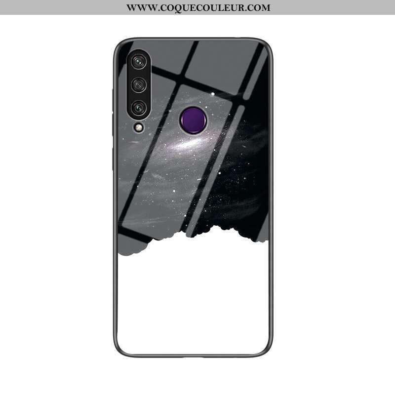 Étui Huawei Y6p Tendance Amoureux Noir, Coque Huawei Y6p Fluide Doux Incassable Noir