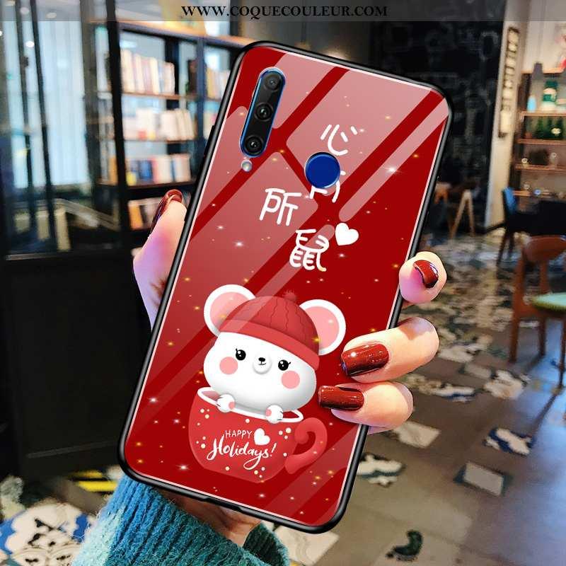 Housse Huawei Y6p Dessin Animé Rouge Frais, Étui Huawei Y6p Charmant Protection