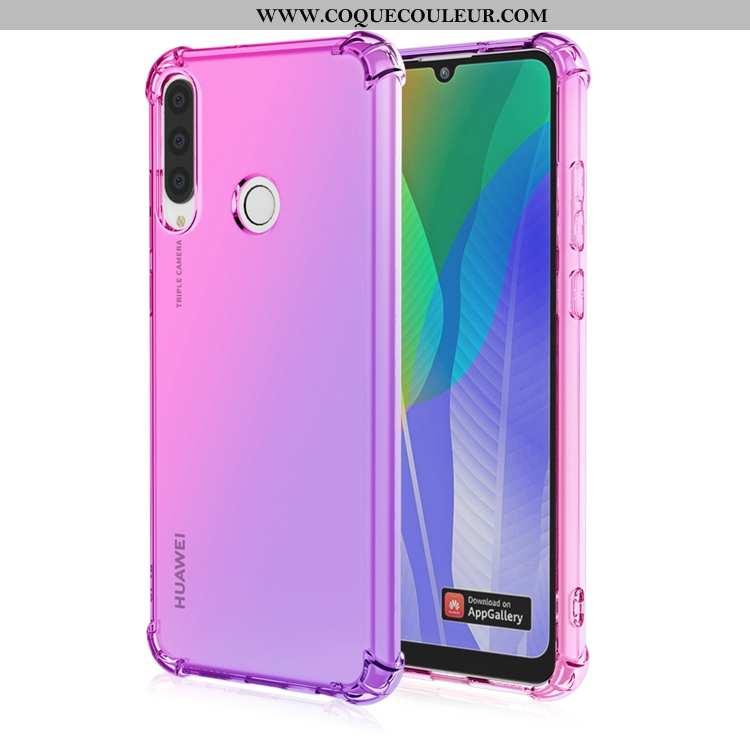 Coque Huawei Y6p Personnalité Incassable Dégradé, Housse Huawei Y6p Fluide Doux Téléphone Portable V