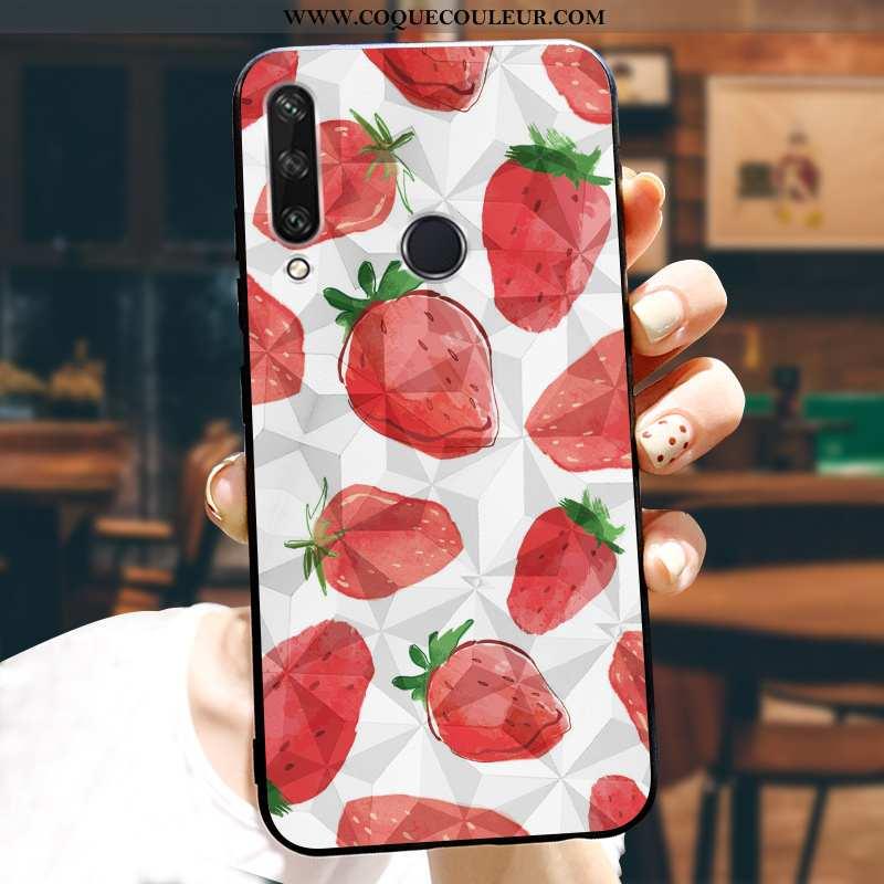 Housse Huawei Y6p Dessin Animé Étui Téléphone Portable, Huawei Y6p Tendance Personnalisé Rouge