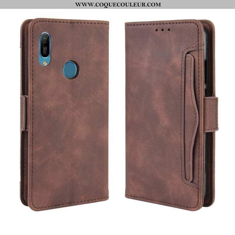 Étui Huawei Y6s Portefeuille Carte Téléphone Portable, Coque Huawei Y6s Protection Créatif Marron