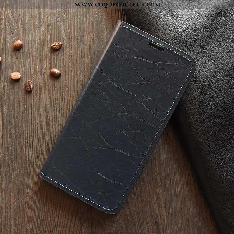 Coque Huawei Y6s Légère Étui Housse, Housse Huawei Y6s Cuir Téléphone Portable Noir