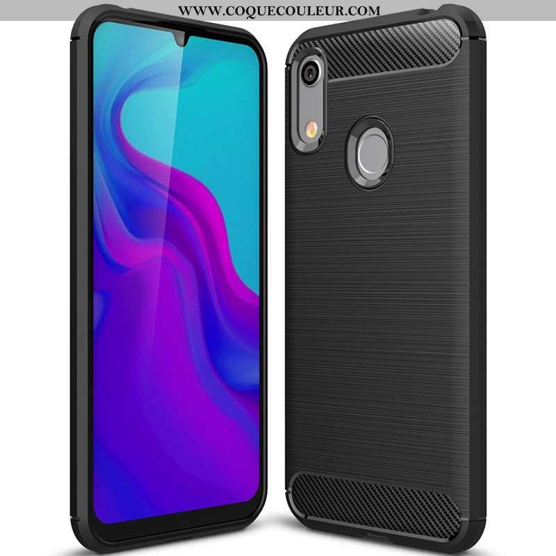 Housse Huawei Y6s Protection Simple Silicone, Étui Huawei Y6s Fluide Doux Noir