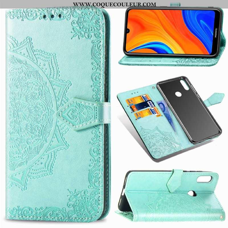 Étui Huawei Y6s Créatif Incassable Coque, Coque Huawei Y6s Cuir Verte