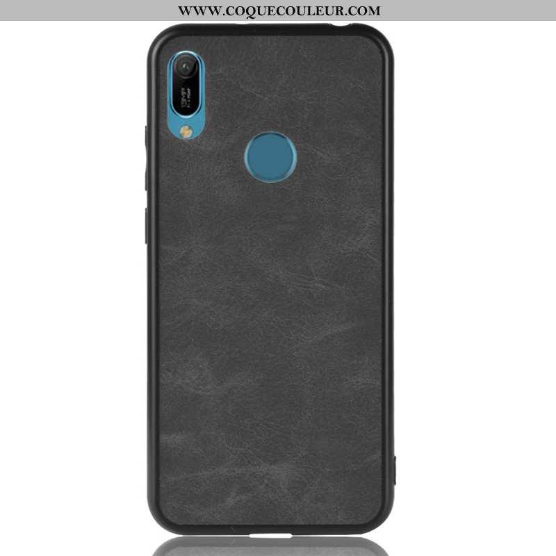 Étui Huawei Y6s Cuir Difficile Étui, Coque Huawei Y6s Protection Tout Compris Noir