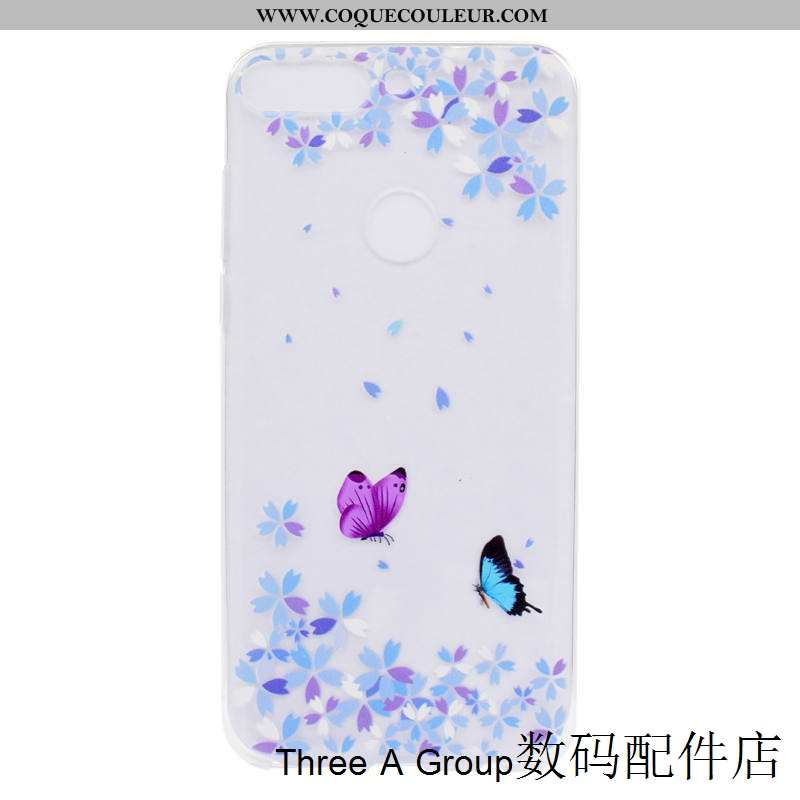 Housse Huawei Y7 2020 Silicone Coque Tendance, Étui Huawei Y7 2020 Protection Violet