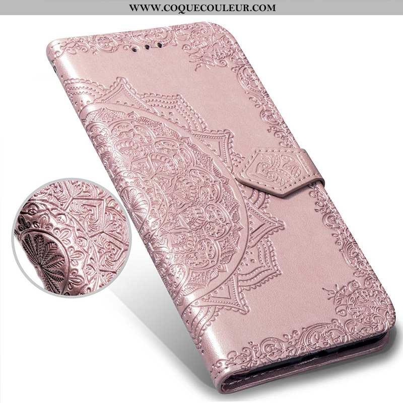 Étui Huawei Y7 2020 Fluide Doux Carte Incassable, Coque Huawei Y7 2020 Gaufrage Téléphone Portable R