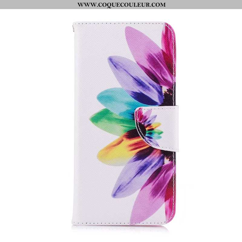 Housse Huawei Y7 2020 Cuir 2020 Multicolore, Étui Huawei Y7 2020 Protection Coloré