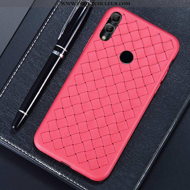 Housse Huawei Y7 2020 Cuir Étui Mode, Huawei Y7 2020 Modèle Fleurie Rouge