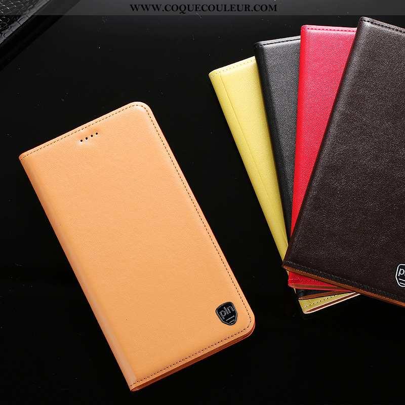 Étui Huawei Y7 2020 Cuir Véritable Protection Téléphone Portable, Coque Huawei Y7 2020 Cuir 2020 Jau