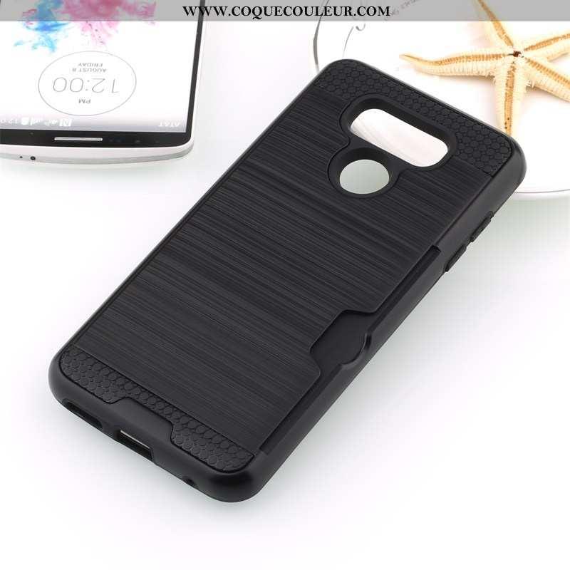 Housse Lg G6 Protection Coque Noir, Étui Lg G6 Téléphone Portable Soie Noir