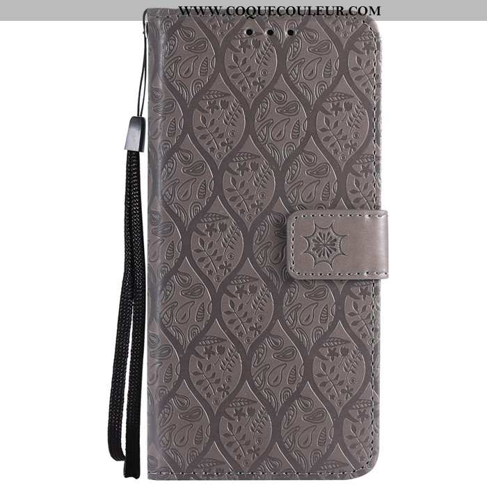 Housse Lg G6 Protection Incassable Carte, Étui Lg G6 Cuir Téléphone Portable Gris