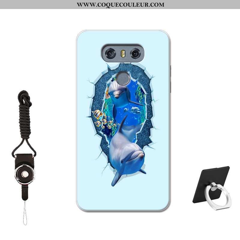 Étui Lg G6 Personnalité Silicone Étui, Coque Lg G6 Créatif Téléphone Portable Bleu