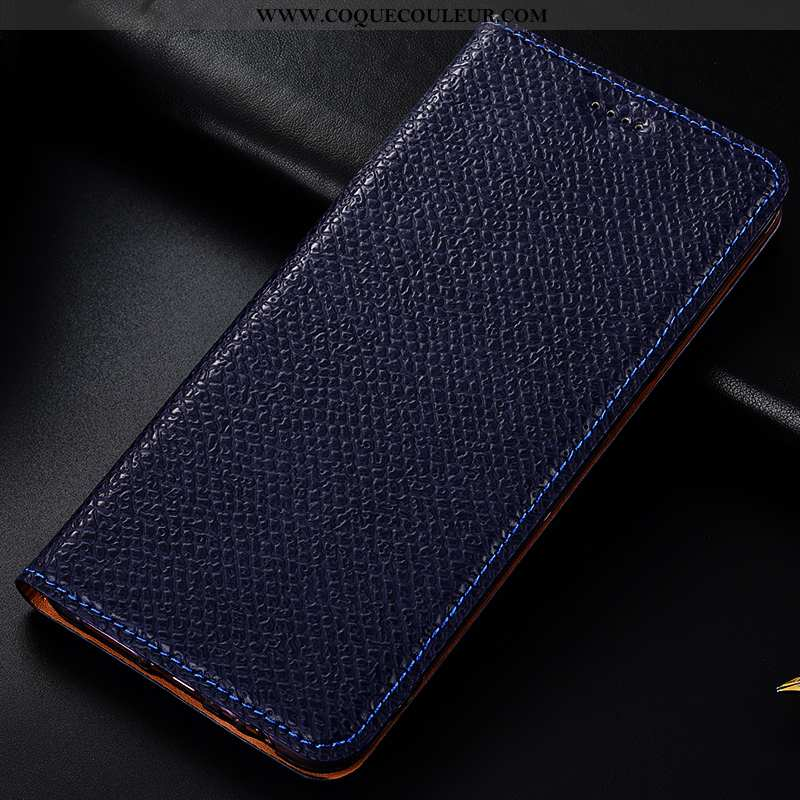 Coque Lg G6 Protection Modèle Fleurie Coque, Housse Lg G6 Cuir Véritable Téléphone Portable Bleu Fon