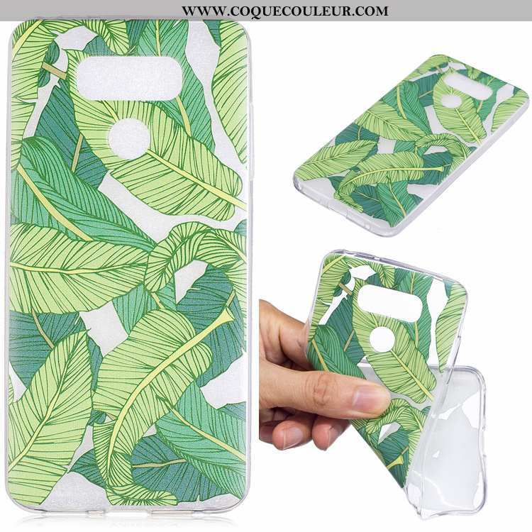 Housse Lg G6 Dessin Animé Téléphone Portable Incassable, Étui Lg G6 Tendance Protection Verte