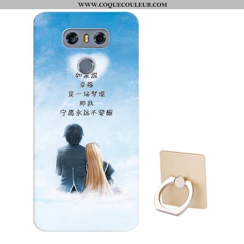 Coque Lg G6 Protection Téléphone Portable Coque, Housse Lg G6 Dessin Animé Fluide Doux Bleu