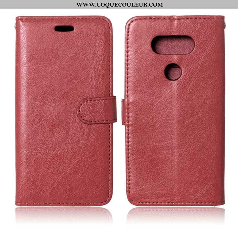 Étui Lg G6 Fluide Doux Portefeuille Coque, Coque Lg G6 Silicone Téléphone Portable Rouge