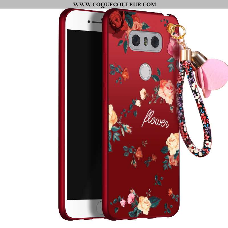 Coque Lg G6 Silicone Tout Compris Rouge, Housse Lg G6 Protection Tendance Rouge