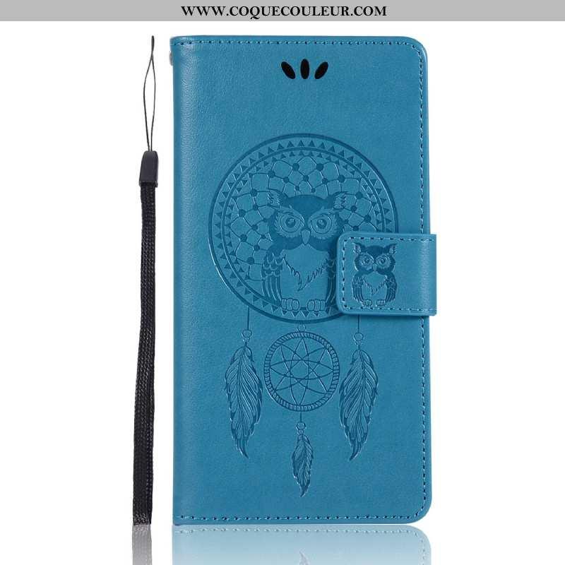 Étui Lg G6 Portefeuille Téléphone Portable Carte, Coque Lg G6 Cuir Protection Bleu