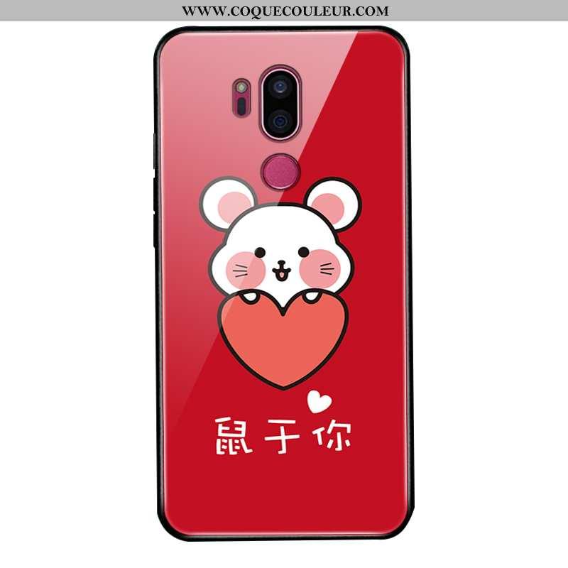 Étui Lg G7 Thinq Protection Délavé En Daim Téléphone Portable, Coque Lg G7 Thinq Verre Personnalisé
