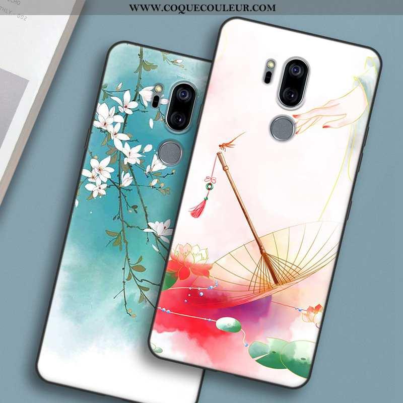 Coque Lg G7 Thinq Personnalité Téléphone Portable Rose, Housse Lg G7 Thinq Fluide Doux Protection Ro
