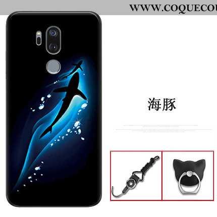 Coque Lg G7 Thinq Transparent Légère Incassable, Housse Lg G7 Thinq Ultra Silicone Bleu Foncé