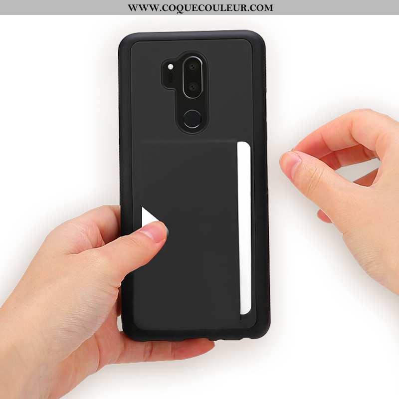 Housse Lg G7 Thinq Fluide Doux Cuir, Étui Lg G7 Thinq Protection Téléphone Portable Noir