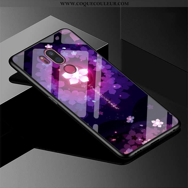 Housse Lg G7 Thinq Protection Incassable Mode, Étui Lg G7 Thinq Verre Violet