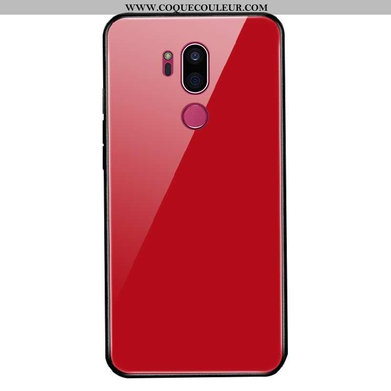 Housse Lg G7 Thinq Mode Net Rouge Silicone, Étui Lg G7 Thinq Protection Personnalisé