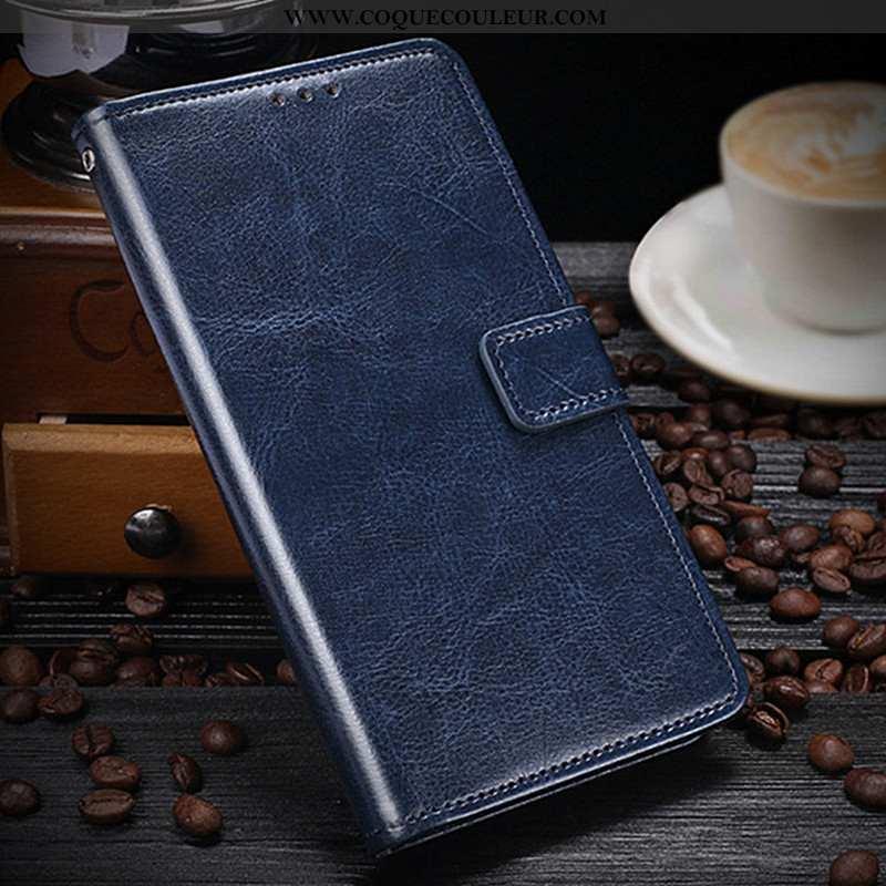 Coque Lg K11 Protection Étui Téléphone Portable, Housse Lg K11 Portefeuille Bleu Foncé