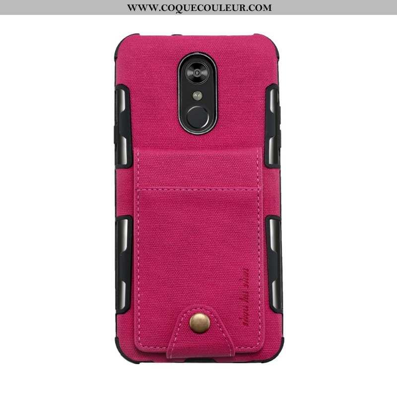 Housse Lg Q Stylus Créatif Téléphone Portable Coque, Étui Lg Q Stylus Cuir Rouge Rose