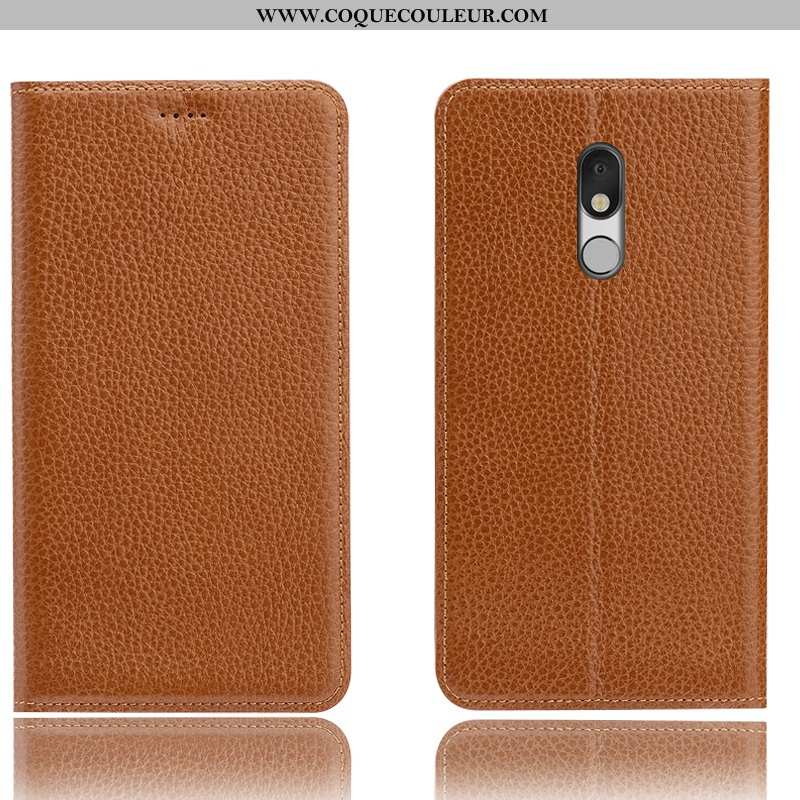 Coque Lg Q Stylus Cuir Véritable Téléphone Portable Étui, Housse Lg Q Stylus Protection Tout Compris