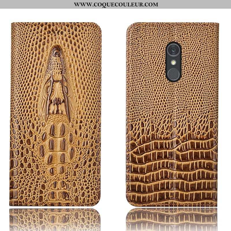 Coque Lg Q Stylus Protection Téléphone Portable Coque, Housse Lg Q Stylus Cuir Véritable Étui Marron