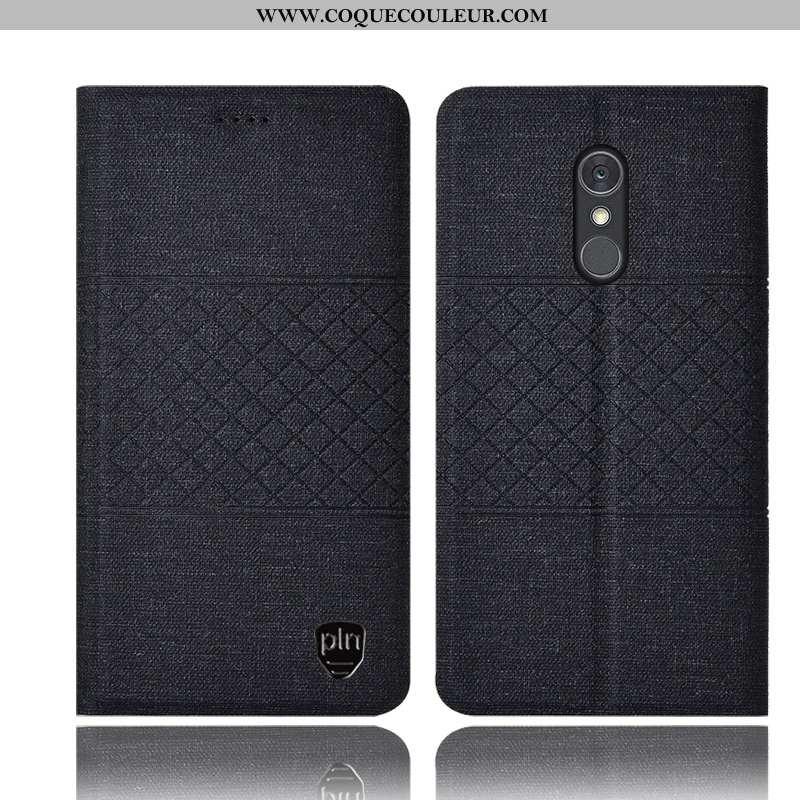 Housse Lg Q Stylus Protection Étui Coque, Lg Q Stylus Cuir Incassable Noir