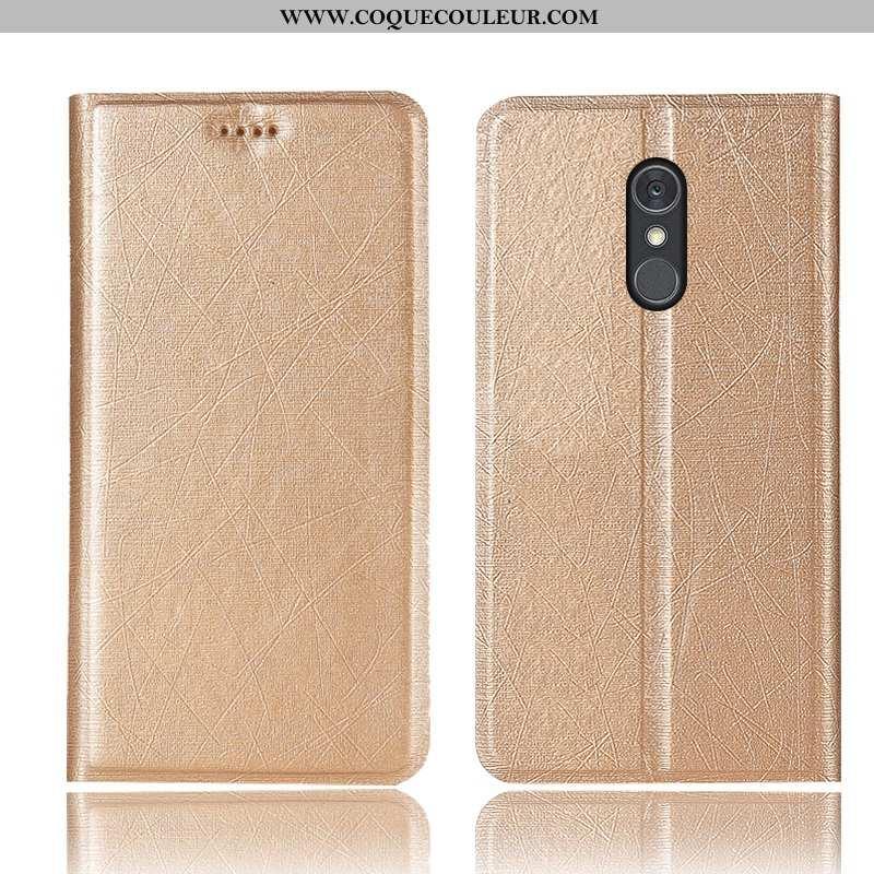 Coque Lg Q Stylus Protection Étui Téléphone Portable, Housse Lg Q Stylus Cuir Tout Compris Doré