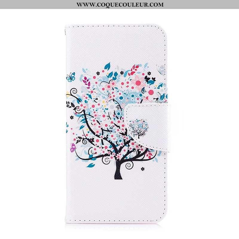 Housse Lg Q6 Protection Téléphone Portable Peinture, Étui Lg Q6 Cuir Blanche