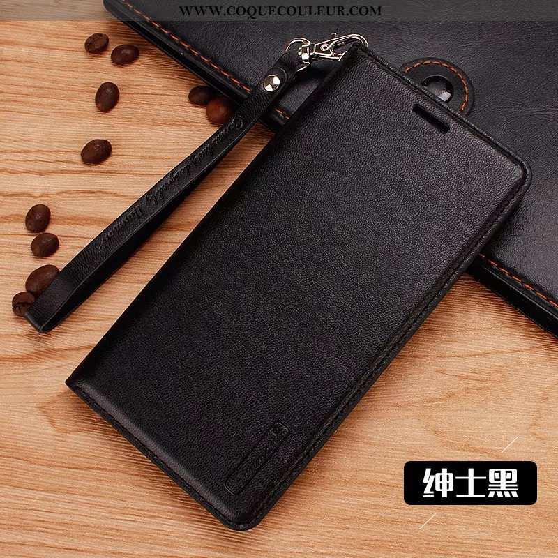 Étui Lg Q6 Cuir Coque, Coque Lg Q6 Fluide Doux Téléphone Portable Noir
