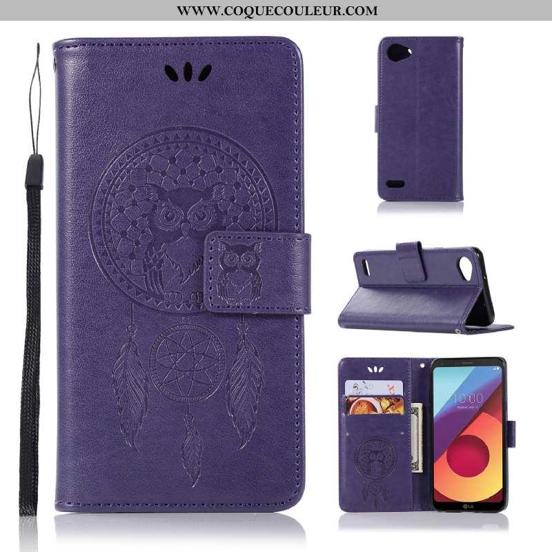 Housse Lg Q6 Fluide Doux Protection Cuir, Étui Lg Q6 Silicone Coque Violet