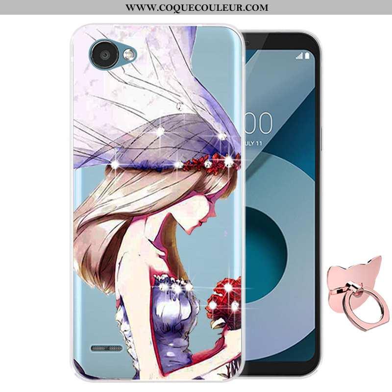 Étui Lg Q6 Dessin Animé Protection Téléphone Portable, Coque Lg Q6 Fluide Doux Violet