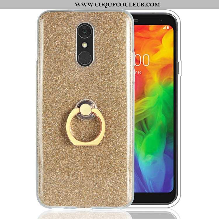 Étui Lg Q7 Fluide Doux Rose Or, Coque Lg Q7 Silicone Téléphone Portable Doré