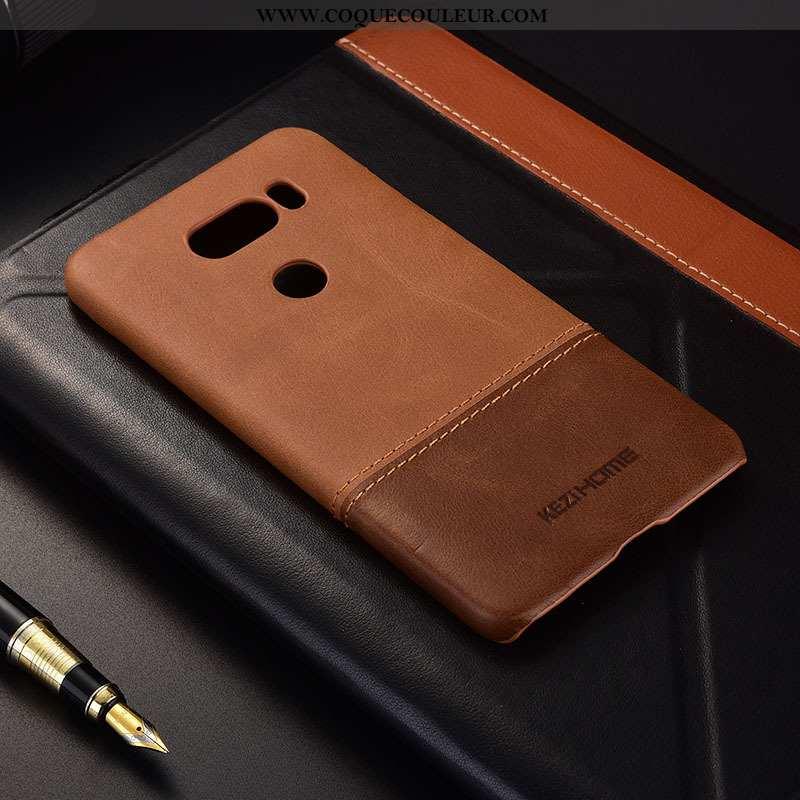 Coque Lg V30 Téléphone Portable, Housse Lg V30 Marron