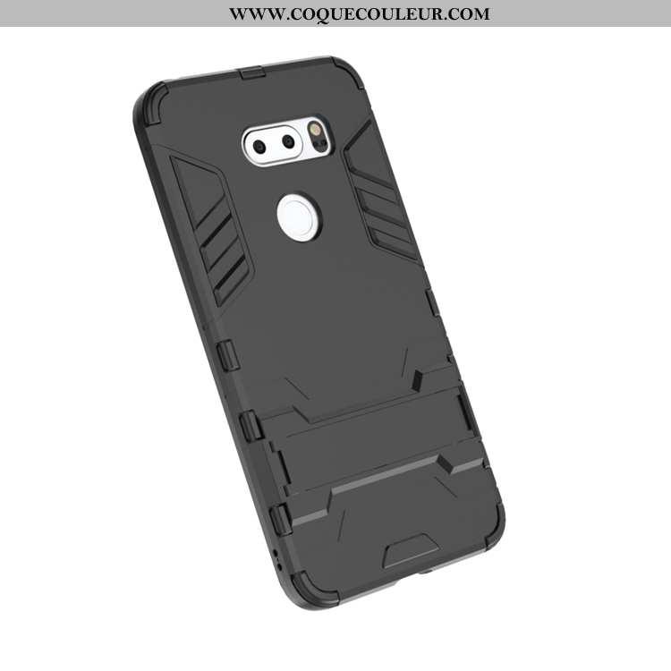 Étui Lg V30 Silicone Téléphone Portable Invisible, Coque Lg V30 Protection Incassable Noir