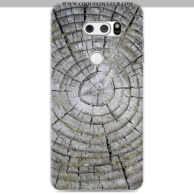 Étui Lg V30 Personnalité Peinture Difficile, Coque Lg V30 Créatif Téléphone Portable Gris