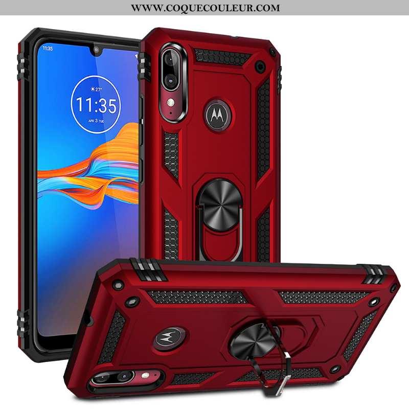 Étui Moto E6 Plus Téléphone Portable Magnétisme Tout Compris, Coque Moto E6 Plus À Bord Difficile Ro