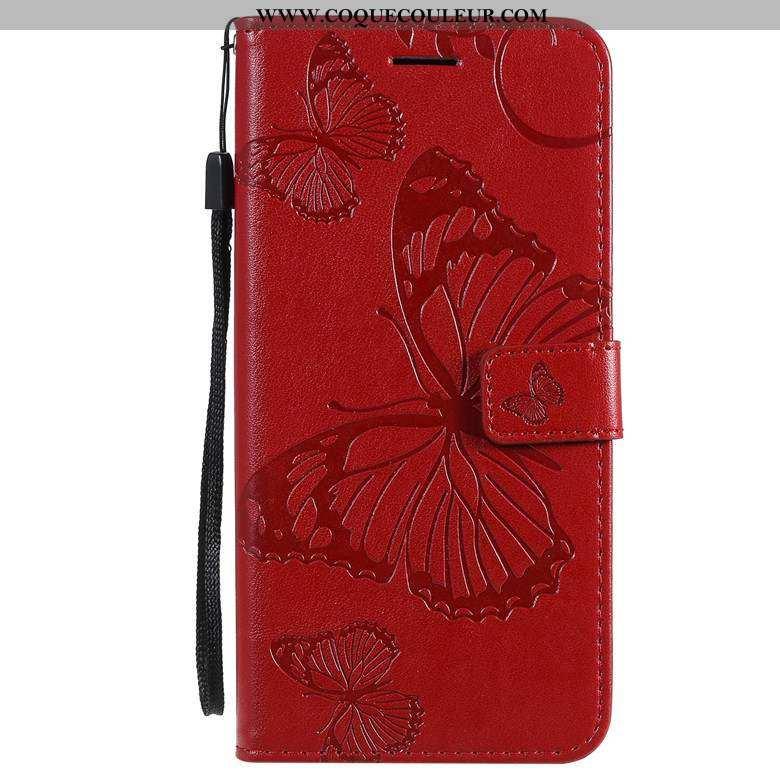 Coque Moto E6 Plus Fluide Doux Rouge Coque, Housse Moto E6 Plus Silicone Téléphone Portable